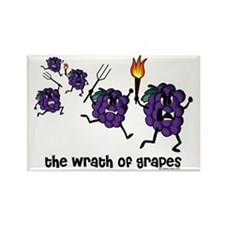 The Wrath of Grapes Rectangle Magnet