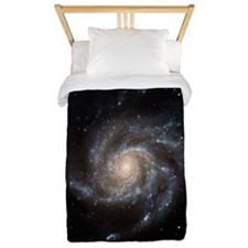 Spiral Galaxy (M101) Twin Duvet Cover