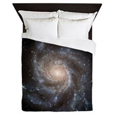 Spiral Galaxy (M101) Queen Duvet Cover