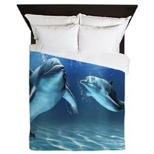Dolphin Dream Queen Duvet Cover