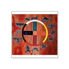 "medicine wheel Square Sticker 3"" x 3"""