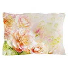 Watercolor Roses Pillow Case