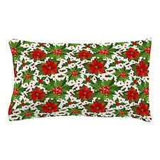 Poinsettia Pattern Pillow Case