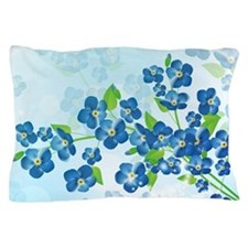 Forget Me Not Flowers Pillow Case