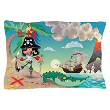 Pirate Cartoon Pillow Case