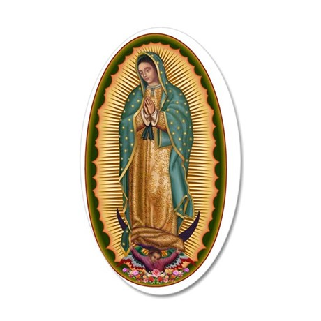 12 Lady of Guadalupe 35x21 Oval Wall Decal