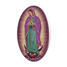 9  Lady of Guadalupe Oval Car Magnet