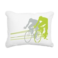 Bicycle Racers Rectangular Canvas Pillow