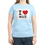 I love mice Women's Pink T-Shirt