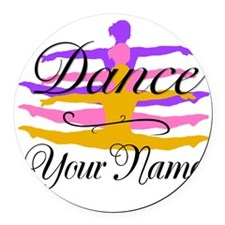 Dance Customizeable Round Car Magnet