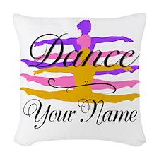 Dance Customizeable Woven Throw Pillow