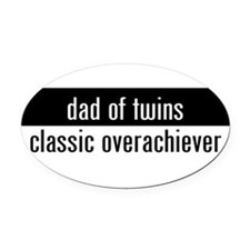 Funny Twin Oval Car Magnet