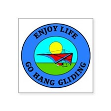 "hang gliding4 Square Sticker 3"" x 3"""