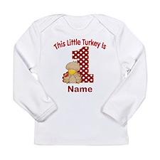 1st Birthday Turkey Long Sleeve T-Shirt