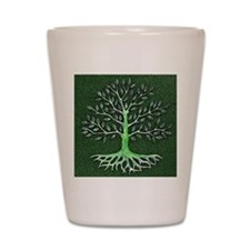 Verd Haitian Relief Tree Shot Glass