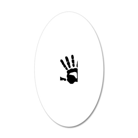 hand_right 20x12 Oval Wall Decal