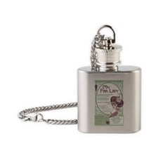 my-fair-lady-poster Flask Necklace