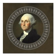 "George Washington Square Car Magnet 3"" x 3"""
