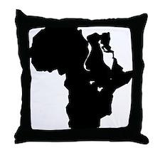 Africa and Man Throw Pillow