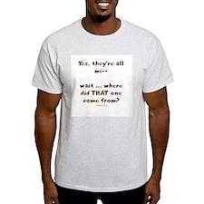 Strange kid Ash Grey T-Shirt