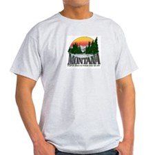 Cold Montana Ash Grey T-Shirt