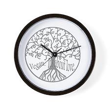vegan love tee Wall Clock