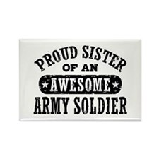 Proud Army Sister Rectangle Magnet