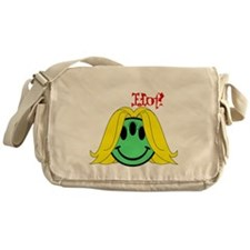 Alien Chicks are Hot! wht font  Messenger Bag