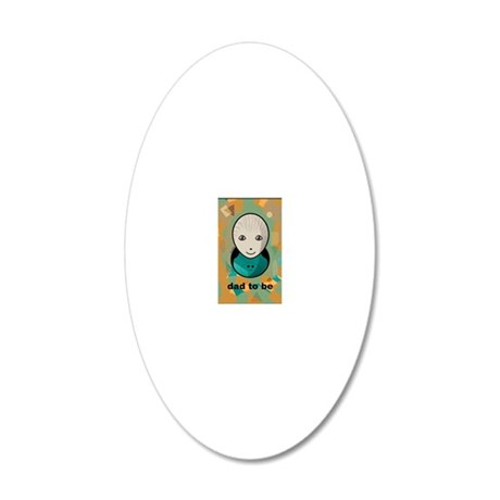 cahierpersonnageoeufdadtobe1 20x12 Oval Wall Decal