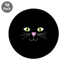 "'Black Cat' 3.5"" Button (10 pack)"