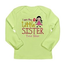 Little Sister Stick Figure Girl Long Sleeve Infant