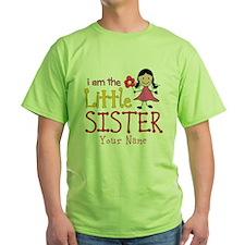 Little Sister Stick Figure Girl T-Shirt