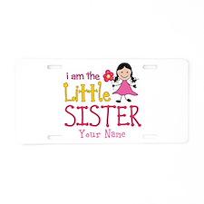 Little Sister Stick Figure Girl Aluminum License P