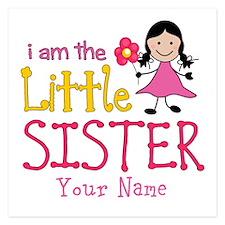 Little Sister Stick Figure Girl 5.25 x 5.25 Flat C