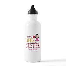 Little Sister Stick Figure Girl Water Bottle