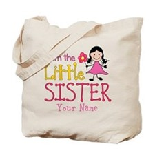 Little Sister Stick Figure Girl Tote Bag