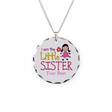 Little Sister Stick Figure Girl Necklace