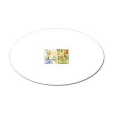 AbsintheMagnetgreenborder 20x12 Oval Wall Decal