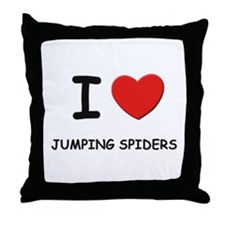 I love jumping spiders Throw Pillow