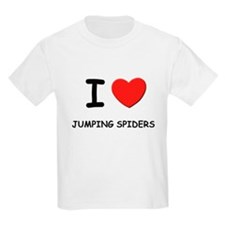 I love jumping spiders Kids T-Shirt