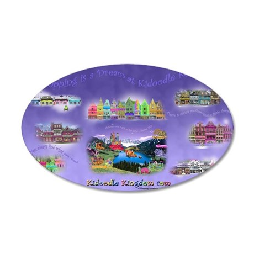 Calendar Shopping is a Dream 35x21 Oval Wall Decal