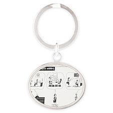 How eDiscovery Works Oval Keychain