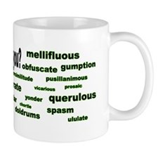 words words words green bumper Mug