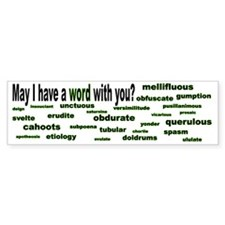 words words words green bumper Bumper Sticker