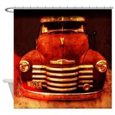 Vintage 1950 Chevy Truck Shower Curtain