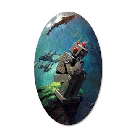 Submerged 35x21 Oval Wall Decal