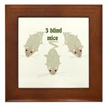 """3 Blind Mice"" Framed Tile"
