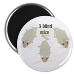 """3 Blind Mice"" 2.25"" Magnet (100 pack)"