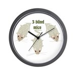 """3 Blind Mice"" Wall Clock"