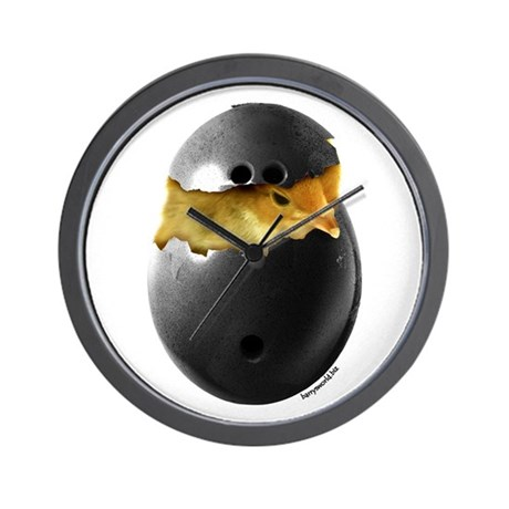Bowling Chick Wall Clock